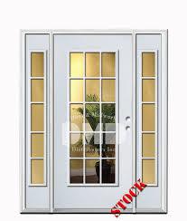 15 Lite Exterior Door 15 Lite Clear Glass Steel Exterior Door With Sidelites 6 8 Door