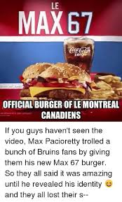 Montreal Canadians Memes - le max67 zero ref logic official burger ofle montreal canadiens if