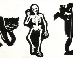 buy 3 for 9 usd halloween skeleton bone bones handpainted