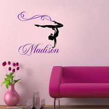 girls bedroom wall decals name gymnasts wall decal gymnastics dance decor stickers custom