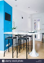 modern kitchen breakfast bar black stools white breakfast bar in modern white kitchen dining