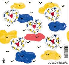 la poste timbre mariage jean charles de castelbajac au cœur du timbre