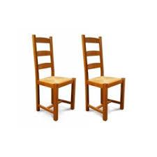 chaise en bois et paille hellin lot de 2 chaises en bois massif et assise paille riga bois