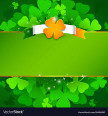 Green Day Flag Green St Patricks Day Background With Irish Flag Vector Image