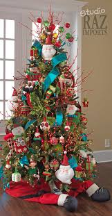 multi colored christmas tree the most wonderful time of the