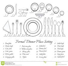 Formal Table Settings Formal Table Setting Stock Vector Illustration Of Soup 48901274