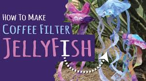 how to make jellyfish from coffee filters kids craft diy