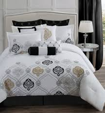 White And Gold Bedding Sets Gold Comforter Sets Queen Home Design Ideas