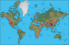 kids science projects world physical map free download within of