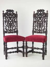 Kimball Victorian Furniture Reproductions by Pair High Back Victorian Gothic Revival Chairs Victorian Revival