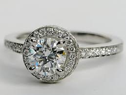 platinum pave rings images Halo pave diamond engagement ring in platinum engagement ring wall png