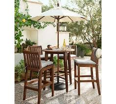 Tufted Outdoor Dining Chair Cushion Solid Pottery Barn - Chair cushions for dining room