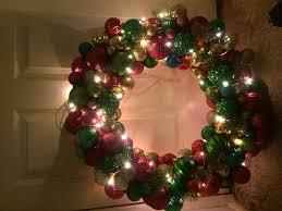 wreath made of lightschristmas lights
