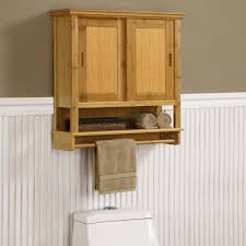 furniture wall mounted natural wooden bathroom cabinet organizers