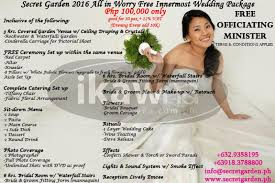 cheap wedding packages complete affordable wedding packages w garden venue swimming