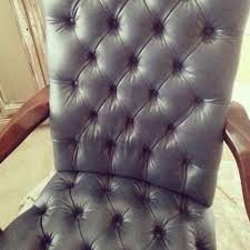 Distress Leather Chair Painting A Leather Chair White Lace Cottage