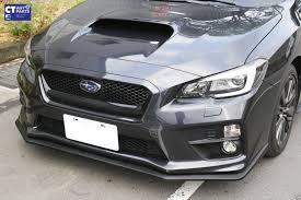 subaru cars black sti style front lip front splitter matte black for subaru wrx sti