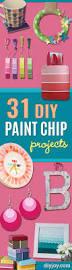31 super creative diy paint chip projects creative crafts paint