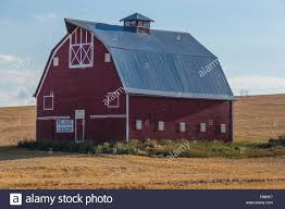 hip roof barn plans red barn hip roof in rural pasture land of palouse washington