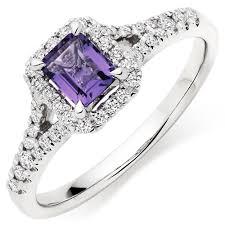 amethyst engagement rings 18ct white gold diamond amethyst ring 0011862 beaverbrooks the