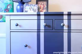 How To Paint Ikea Furniture by Smartgirlstyle Ikea Hemnes Dresser A Racecar Stripe