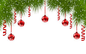 pine decor with ornaments png clip image