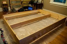 build wooden platform bed frame image of wooden platform bed
