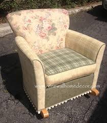 custom order upholstered rocking chair shabby chic