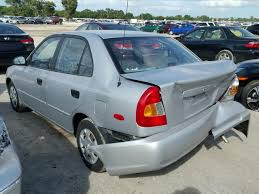 2002 hyundai accent sedan salvage title rebuildable 2002 hyundai accent sedan 4d 1 6l 4 for