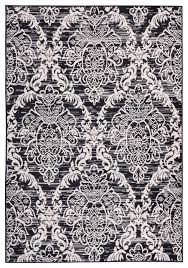 Modern Damask Rug Top Popular Damask Area Rug Household Prepare Navy Black And White