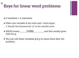 r u l e s for solving linear equation word problems powerpoint tpt