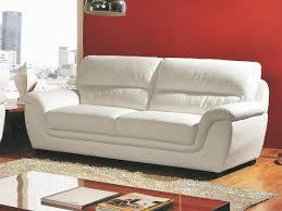 canap cuir blanc 3 places canapé 3 places en cuir kalmia