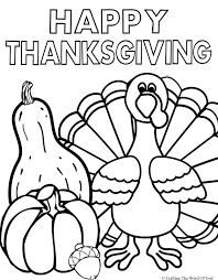 happy thanksgiving coloring page free coloring pages for