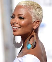 very short blonde hairstyles for round faces black women cute