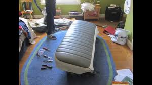Dodge Truck Bench Seat Reupholstering The Bench Seat Youtube