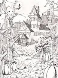 hard halloween drawings u2013 halloween wizard