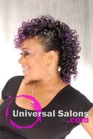 universal hairstyles black hair up do s apryl mcabee s purple hawk mohawk updo hairstyle