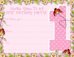 Birthday Party Cards Invitations Printable 1st Birthday Party Announcements Printable Party Kits