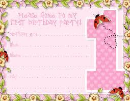 Invitation Birthday Party Card Printable 1st Birthday Party Announcements Printable Party Kits
