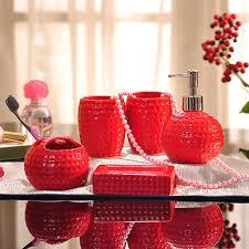 Porcelain Bathroom Accessories Sets Discount Red Bathroom Accessories Sets 2017 Red Bathroom