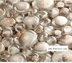 Wholesale Mosaic Tile Crystal Glass Shell Tile Backsplash Pebble Desig - Pebble backsplash