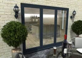 Bifolding Patio Doors Grey Aluminium Bifold Doors Climadoor External Folding Doors