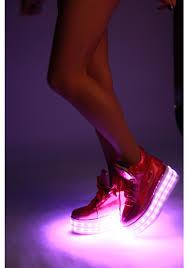 light up shoes pink hologram led light up shoes