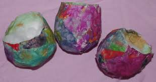 paper mache easter baskets flour glue and paper mache science home