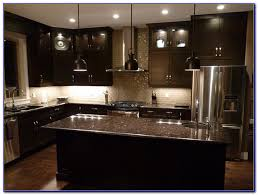 Black Kitchen Cabinets White Subway Tile Kitchen Amusing Kitchen Backsplash Glass Tile Dark Cabinets