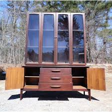 Hutch Buffet by Mid Century Modern Broyhill Emphasis Walnut Hutch Buffet China