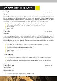 Employment History Example Mining Resumes Examples Resume For Your Job Application
