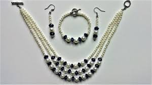 string beads necklace images String beads and make a beautiful jewelry set in less than 15 mins jpg