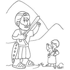 coloring page david coloring page the and goliath david coloring