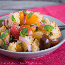 panzanella tuscan style bread and tomato salad